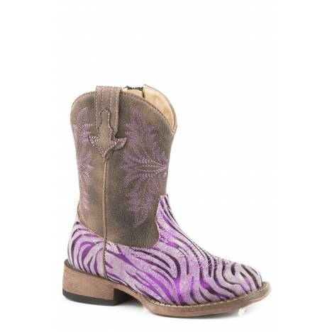 Roper Metallic Zebra - Toddler - Purple
