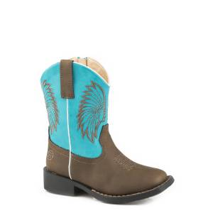 Roper Big Chief - Toddler - Brown/Turquoise