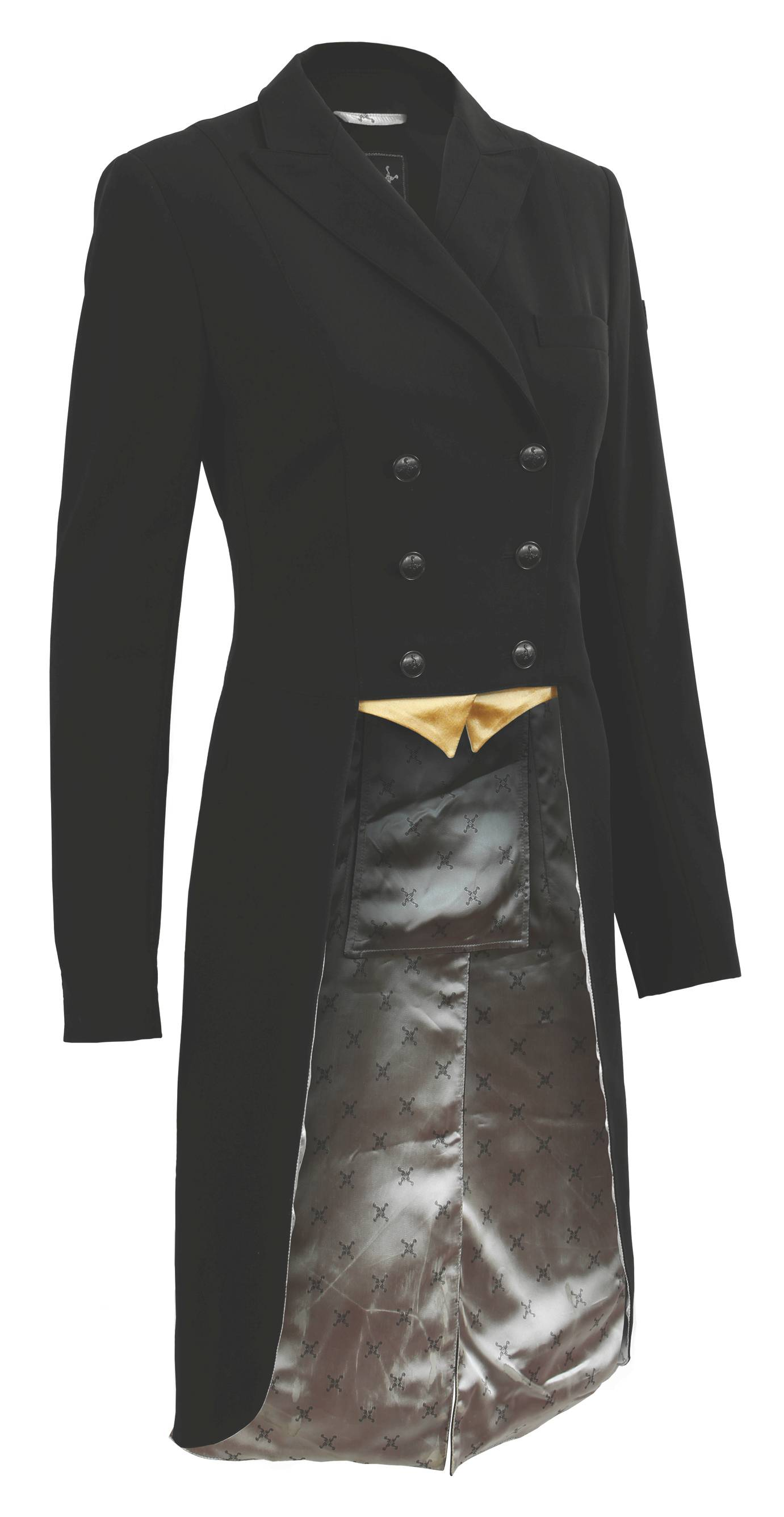 Black 0R Tredstep Ladies Solo Classic Show Coat with Reversible Buttons
