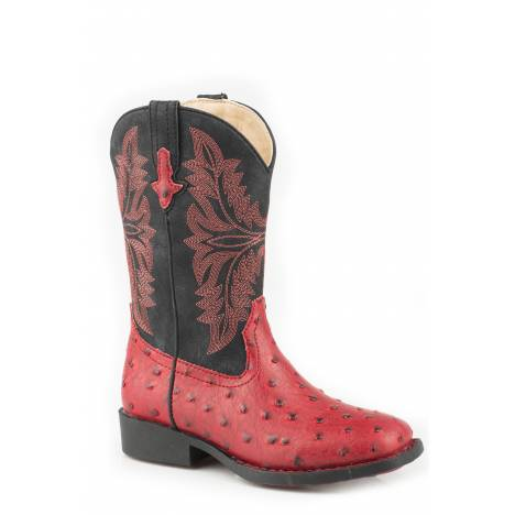 Roper Cowboy Cool Boot - Kids - Red - Black
