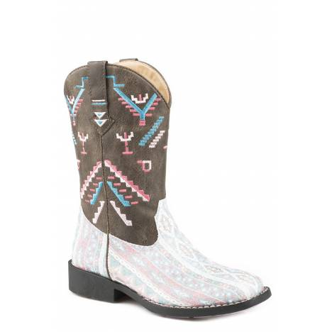 Roper Glitter Azteka Boot - Kids - Multi - Brown