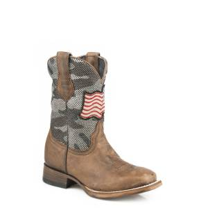 Roper American Camo Western Boots-Kids