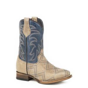 Roper Kyle Square Toe Western Boots-Kids