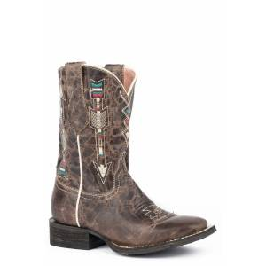 Roper Arrows Square Toe Western Boots-Kids