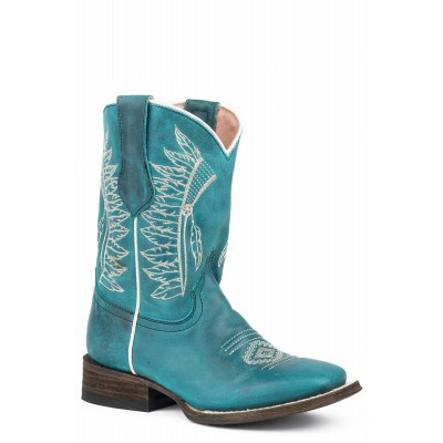 Roper Chiefs Square Toe Western Boots-Kids