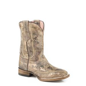 Roper Pure Square Toe Western Boots-Kids