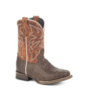 Roper Buddy Square Toe Western Boots-Kids