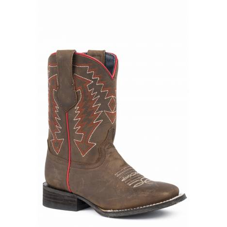 Roper Arrow Points Square Toe Western Boots-Kids
