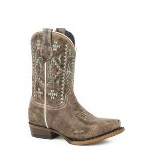 Roper Out West Snip Toe Western Boots-Kids