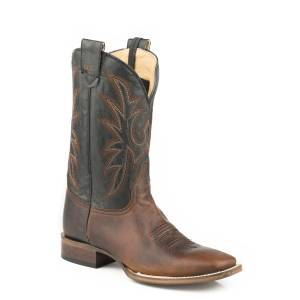 Roper Loaded Square Toe Conceal Carry Boot - Mens - Wax Brown