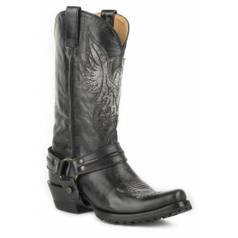 Roper Moto Eagle Lug Boots - Mens - Black
