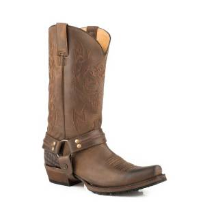 Roper Skull Lug Boot - Mens - Oil Brown
