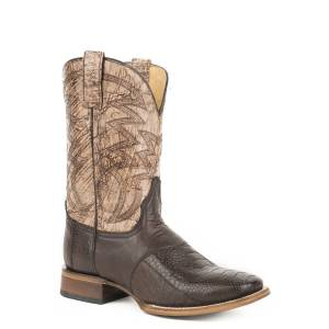 Roper Deadwood Boot - Mens - Waxy Brown/Brown