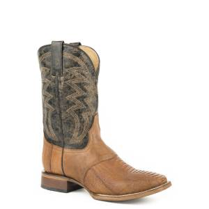 Roper Deadwood Boot - Mens - Waxy Tan/Black