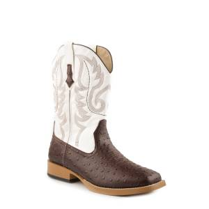 Roper Bumps Faux Leather Boot - Mens - Brown/White