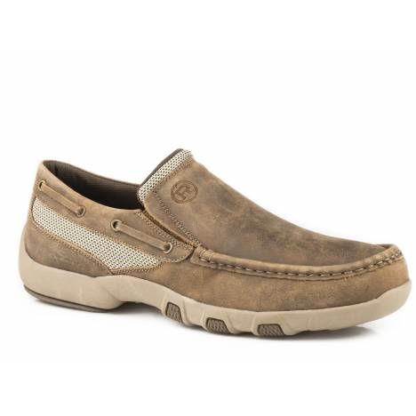 Roper Docks Slip On Shoe - Mens - Vintage Brown