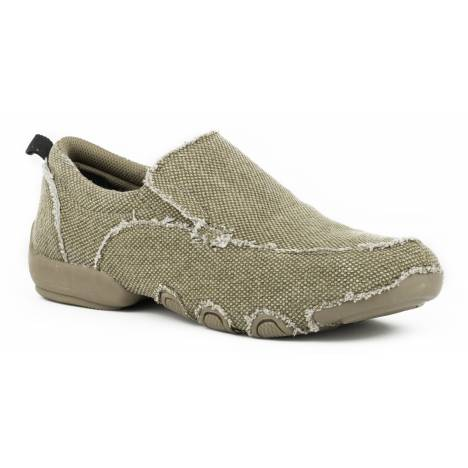 Roper Canvas Driving Moc - Mens - Tan