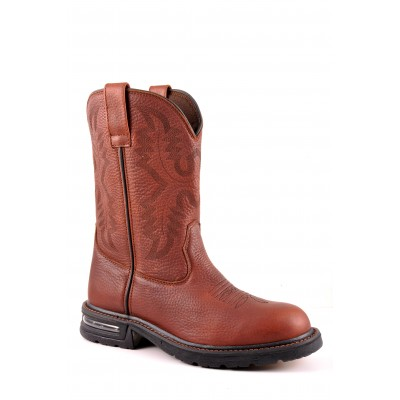 Roper Worker Pull On Work Boot - Mens - Brown