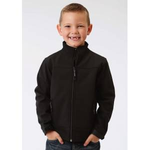 Roper Hi Tech Fleece Jacket-Boys-Black