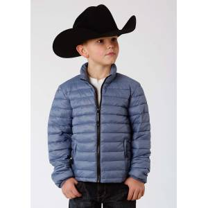 Roper Crushable Parachute Jacket- Boys-Blue