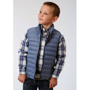 Roper Crushable Parachute Vest- Boys-Blue