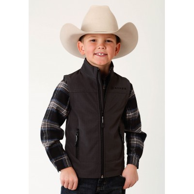 Roper Softshell Fleece Vest-Boys-Grey