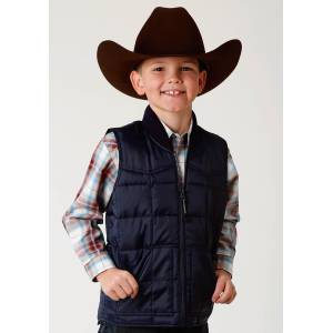Roper Rangegear Down Vest- Boys-Blue