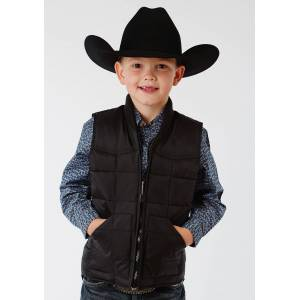 Roper Rangegear Down Vest-Boys-Black