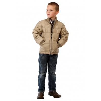Roper Rangegear Down Jacket- Boys-Khaki Brown