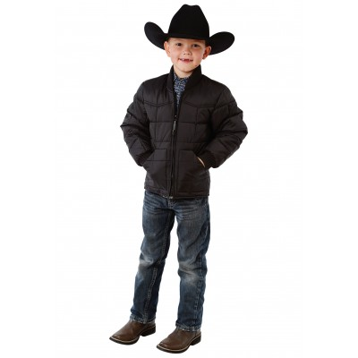 Roper Rangegear Down Jacket- Boys-Black