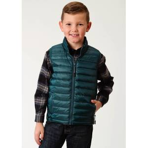 Roper Crushable Parachute Vest-Boys-Green