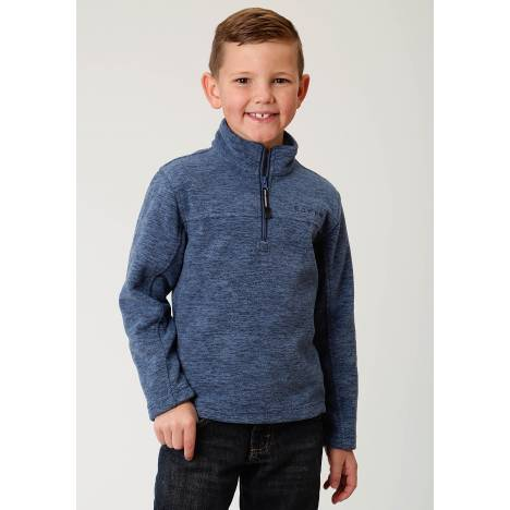 Roper Bonded Fleece Lightweight Pullover Jacket- Boys-Blue