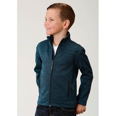 Roper Bonded Fleece Lightweight Jacket- Boys-Blue