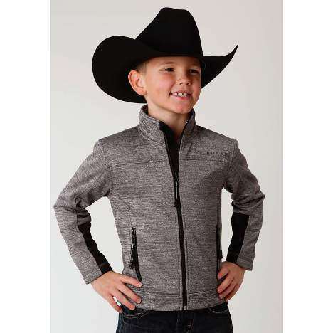 Roper Bonded Fleece Lightweight Jacket- Boys-Grey