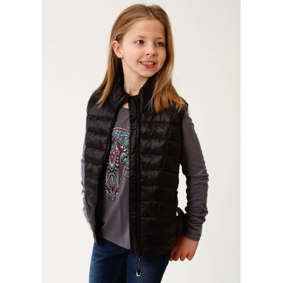 Roper Rangegear Down Vest - Girls - Black