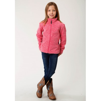 Roper Rangegear Light Weight Micro Fleece Jacket - Girls - Cationic Pink