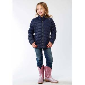Roper Crushable Parachute Jacket - Girls - Dull Steel Blue