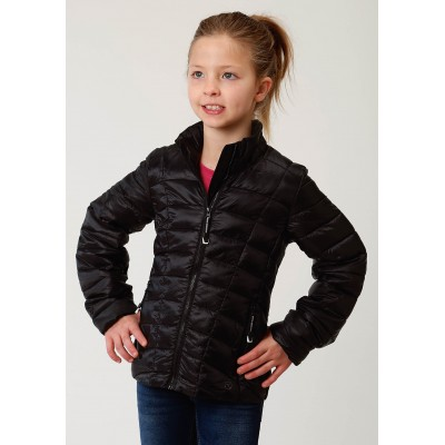 Roper Crushable Parachute Jacket - Girls - Shiny Silver