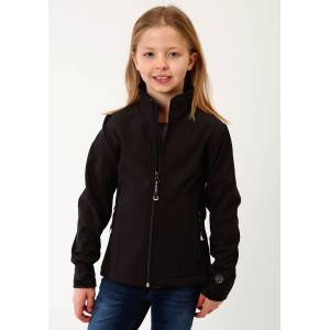 Roper Bonded Soft Shell with Fleece Jacket - Girls - Black