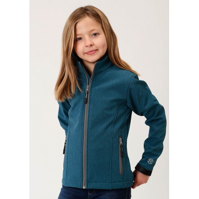 Roper Bonded Soft Shell with Fleece Jacket - Girls - Teal