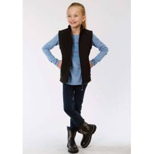 Roper Hi Tech Soft Shell Fleece Vest - Girls - Black