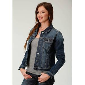 Roper Stretch Denim Jacket-Ladies