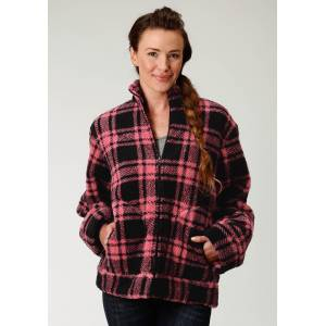 Roper Polar Fleece Jacket- Ladies-Plaid
