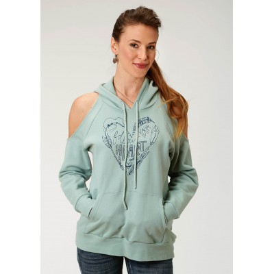 Roper French Terry Cotton Hoodie-Ladies-Sage Green