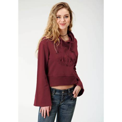Roper French Terry Cotton Hoodie-Ladies-Wine