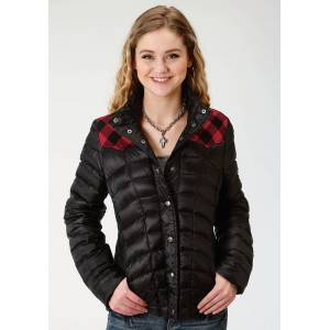 Roper Rangegear Lightweight Down Jacket- Ladies-Black