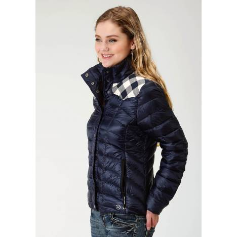 Roper Rangegear Lightweight Down Jacket- Ladies-Blue