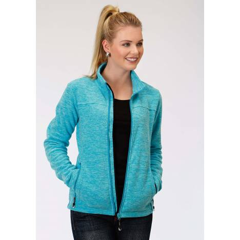 Roper Micro Fleece Jacket- Ladies-Blue