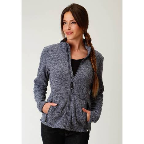 Roper Micro Fleece Jacket- Ladies-Navy Blue