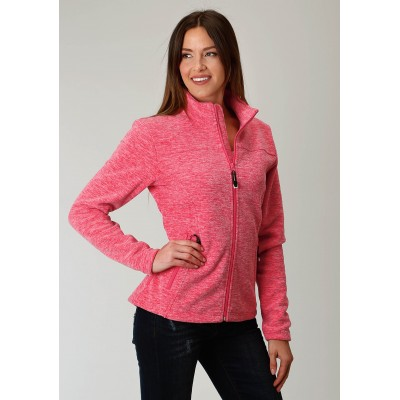 Roper Micro Fleece Jacket- Ladies-Pink